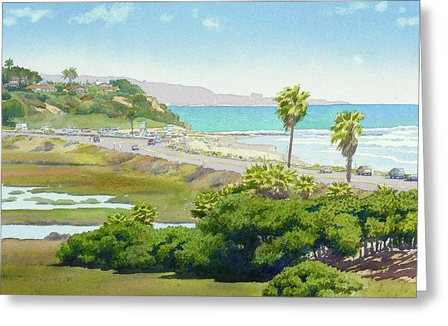Solana Beach California Greeting Card by Mary Helmreich