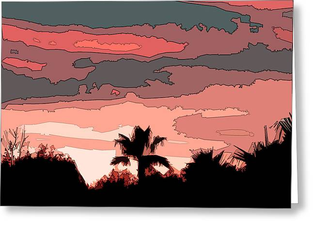Greeting Card featuring the digital art Solana Beach Sunset 1 by Kirt Tisdale