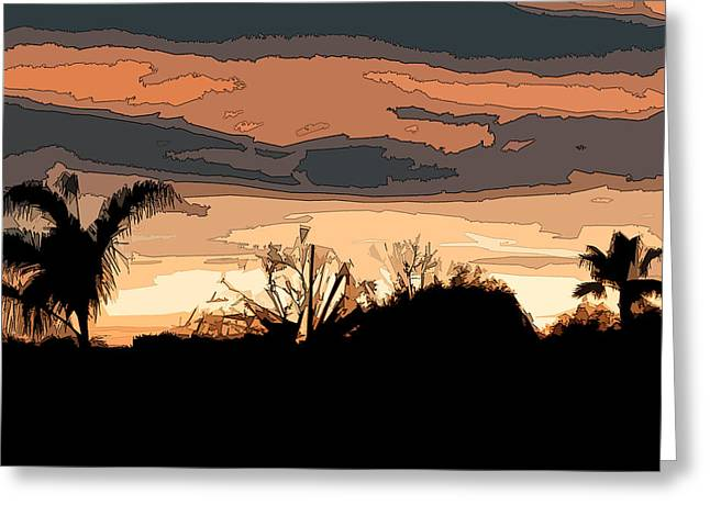 Greeting Card featuring the digital art Solana Beach Sunset 2 by Kirt Tisdale