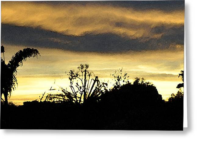 Greeting Card featuring the digital art Solana Beach Sunset 3 by Kirt Tisdale