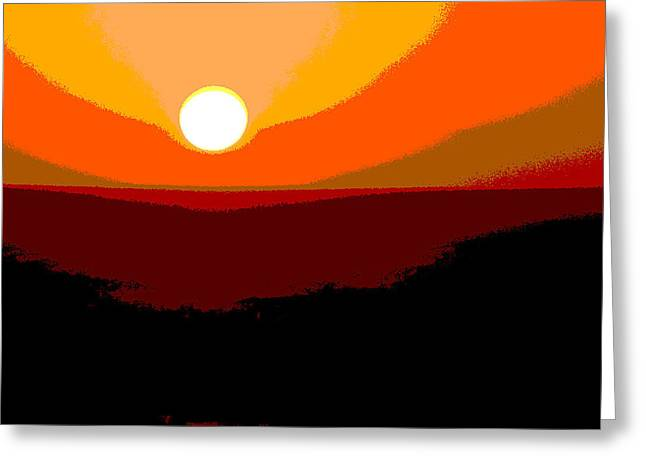 Solar Abstract Greeting Card
