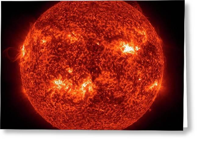 Solar Activity Greeting Card by Nasa/gsfc-svs/sdo Science Team/virtual Solar Observatory