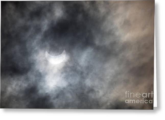 Solar Eclips Greeting Card