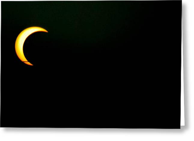 Greeting Card featuring the photograph Solar Eclipse 2012 by Angela J Wright