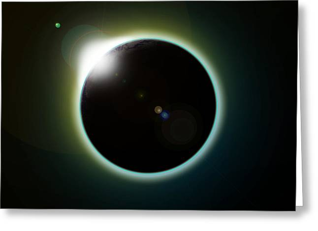 Solar Eclipse Greeting Card by Antony McAulay