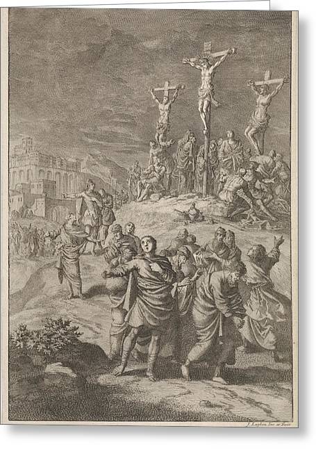 Solar Eclipse At The Death Of Christ, Jan Luyken Greeting Card