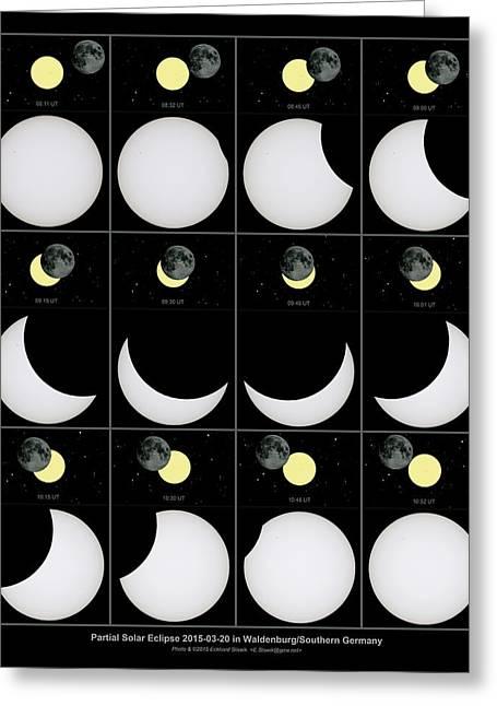 Solar Eclipse Greeting Card by Eckhard Slawik