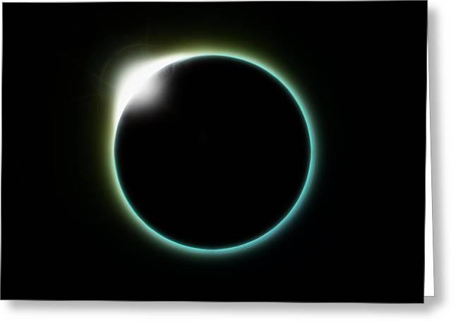 Solar Eclipse Moon Greeting Card by Antony McAulay