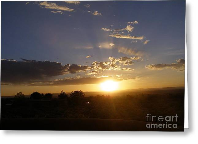 Solar Eclipse Sunset Greeting Card