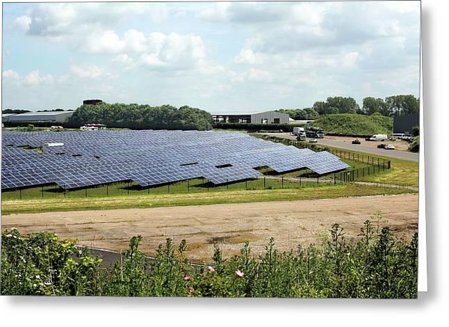 Solar Farm Greeting Card