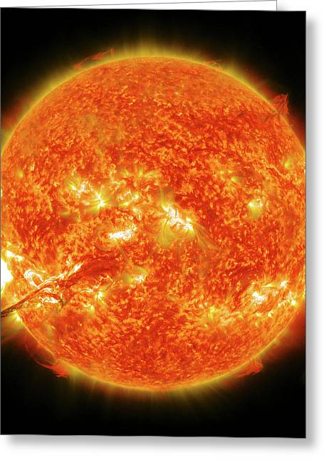 Solar Flare Greeting Card by Nasa/gsfc/sdo