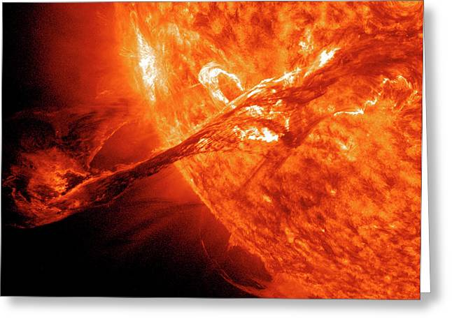 Solar Flare Greeting Card by Solar Dynamics Observatory/nasa