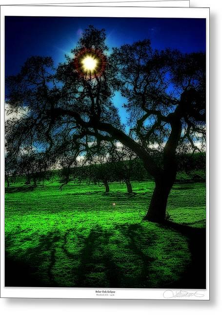 Solar-oak Eclipse Greeting Card