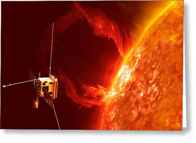 Solar Orbiter Greeting Card by Science Source