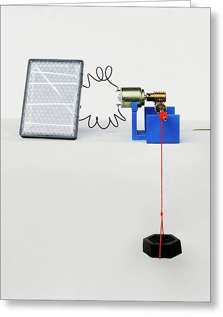 Solar Panel Generating Power Greeting Card