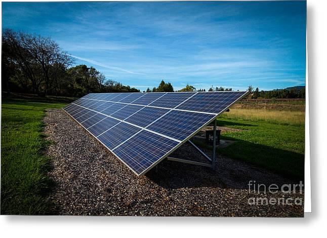 Solar Panels Mendocino County Greeting Card