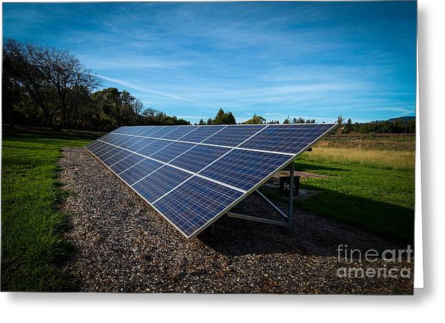 Solar Panels Mendocino County Greeting Card