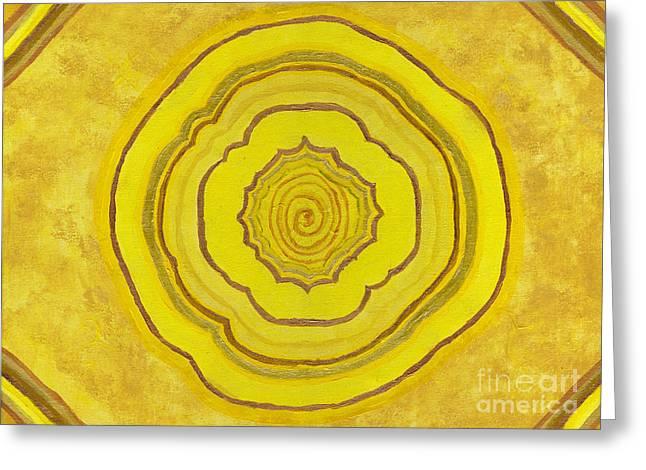 Solar Plexus Flower Greeting Card