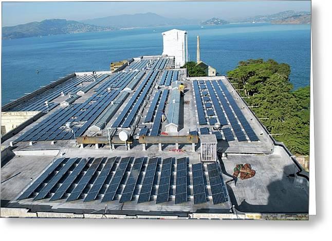Solar Power At Alcatraz Greeting Card