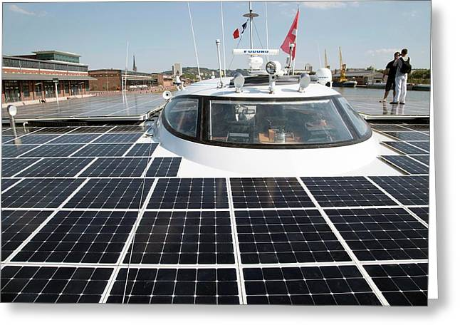 Solar-powered Boat Greeting Card by Andrew Wheeler