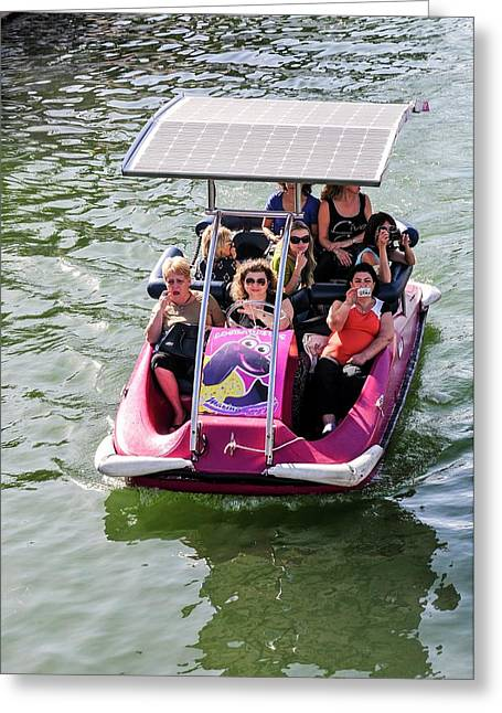 Solar Powered Boat Greeting Card by Photostock-israel