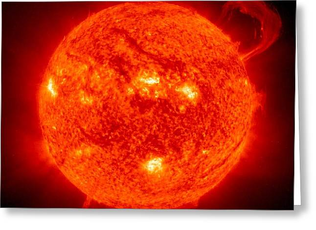 Solar Prominence Greeting Card by Benjamin Yeager