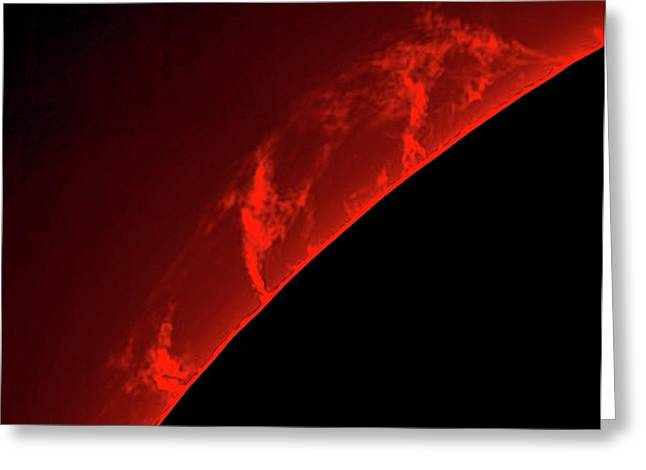 Solar Prominences Greeting Card by Damian Peach