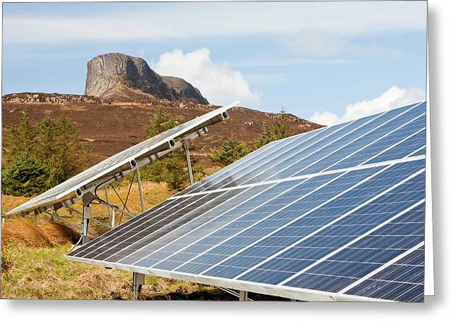 Solar Pv Panels Greeting Card by Ashley Cooper