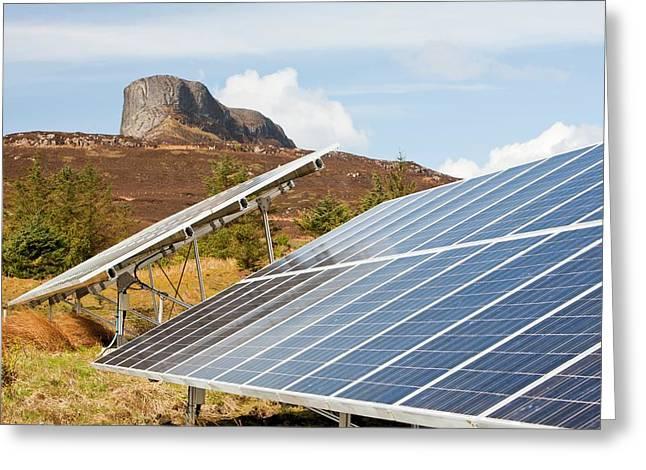 Solar Pv Panels Greeting Card