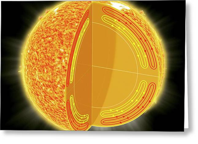 Solar Structure Greeting Card by Claus Lunau
