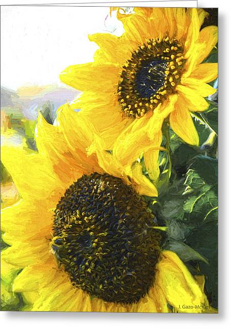 Solar Sunflowers Greeting Card