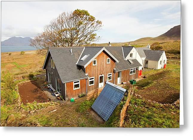 Solar Thermal Panel For Heating Water Greeting Card by Ashley Cooper