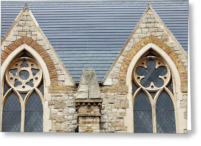 Solar Tiles On A Church Greeting Card by Ashley Cooper