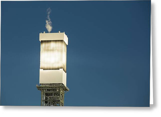 Solar Tower Venting Steam Greeting Card by Ashley Cooper