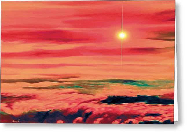 Solar Winds Greeting Card by The Art of Marsha Charlebois
