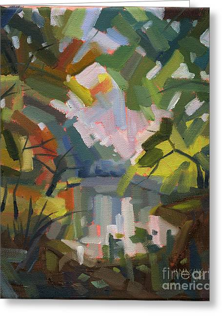 Sold Darkness Into Light Greeting Card by Nancy  Parsons