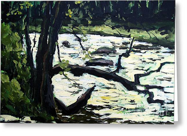 Sold Eel River From The Sandbar Greeting Card by Charlie Spear