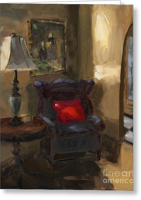 Sold First Light Greeting Card by Nancy  Parsons