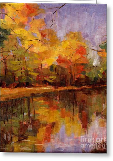 Greeting Card featuring the painting Sold- Show Your True Colors by Nancy  Parsons