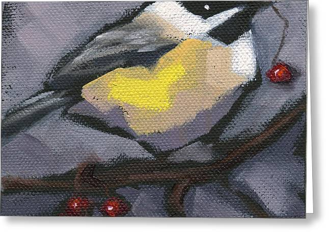 Greeting Card featuring the painting Sold Thanks-giving Bird by Nancy  Parsons