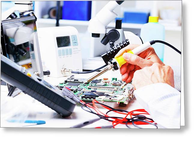 Soldering Equipment And Circuit Board Greeting Card