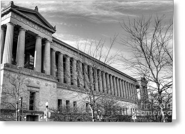 Soldier Field In Black And White Greeting Card