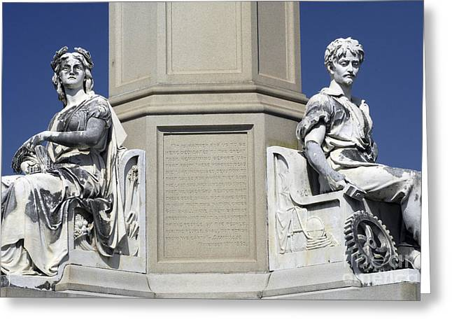 Soldiers Monument Detail Greeting Card by Paul W Faust -  Impressions of Light