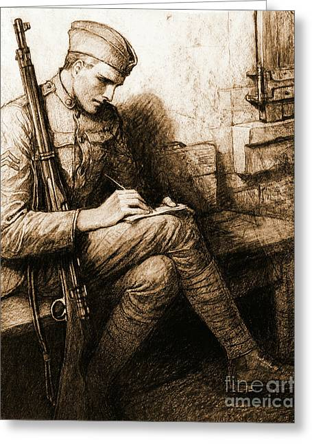 Soldier's Valentine 1918 Greeting Card by Padre Art