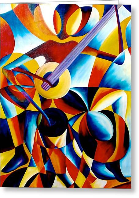 Sole Musician Greeting Card