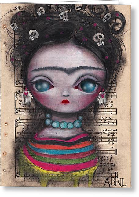 Soledad Frida Greeting Card by  Abril Andrade Griffith