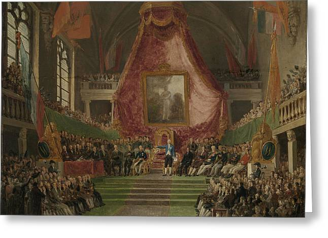 Solemn Inauguration Of Ghent University By The Prince Greeting Card by Litz Collection