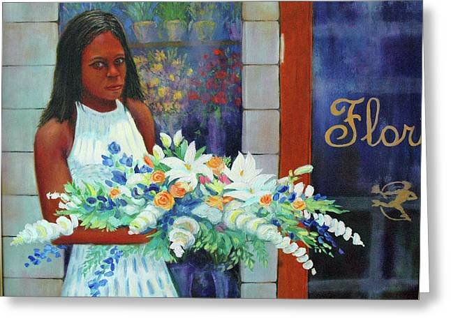 Greeting Card featuring the painting Solemn Occasion by Dwain Ray
