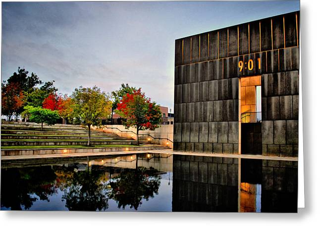 Solemn Reflections - Okc Memorial Greeting Card