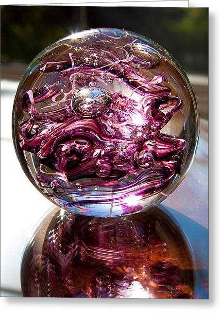 Solid Glass Sculpture R6 The Perfect Valentine's Gift Greeting Card by David Patterson